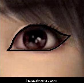 رسم كحل للعيون الصغيرة